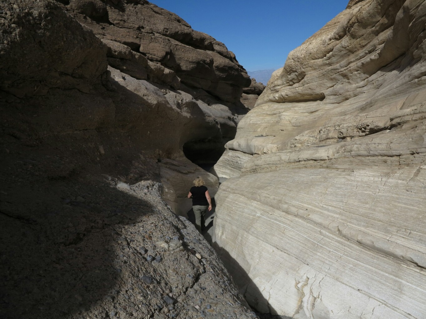 Narrow canyon in Death Valley